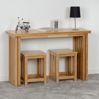 Richmond Stool in Oak Varnish (PAIR)