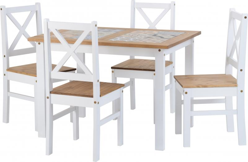 Salvador 1+4 Tile Top Dining Set