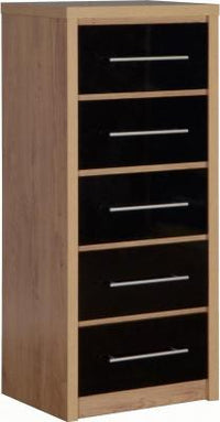 Seville 5 Drawer Narrow Chest