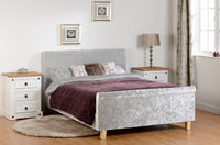 Shelby 4ft6 Sleigh Bed High Foot End