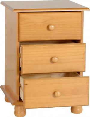 Sol 3 Drawer Bedside Chest
