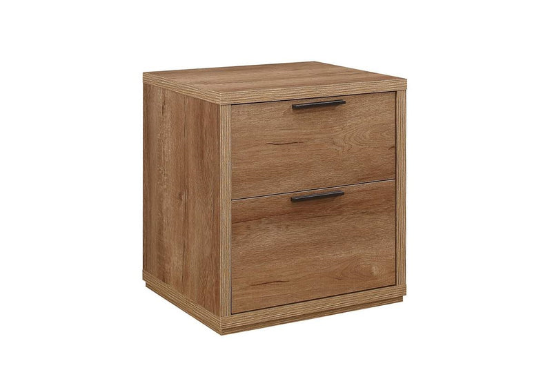 Stockwell 2 Drawer Bedside - Rustic Oak Effect