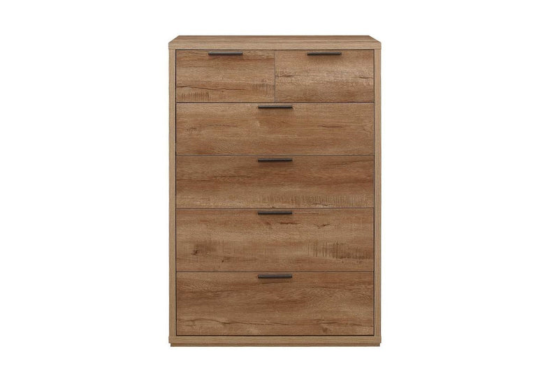 Stockwell 4 + 2 Chest - Rustic Oak Effect
