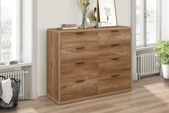 Stockwell Merchant Chest - Rustic Oak Effect