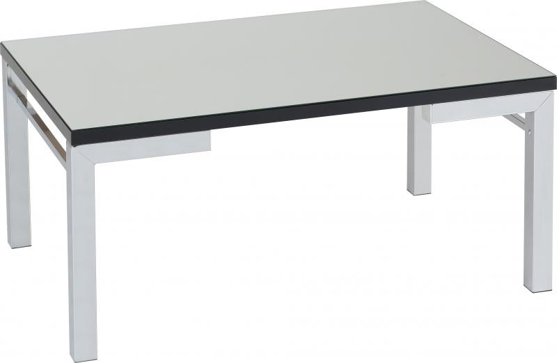 Valencia Coffee Table - Mirrored/Black Trim