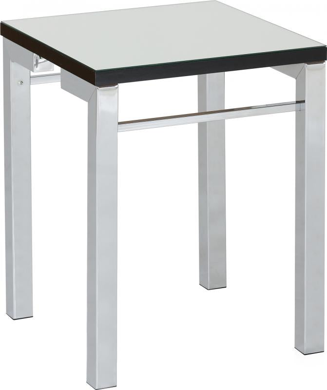 Valencia Side Table - Mirrored/Black Trim