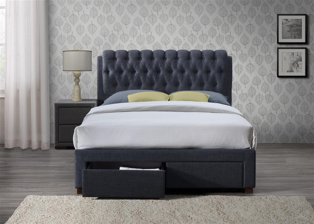 Valentino 2 Drawer Fabric Bed