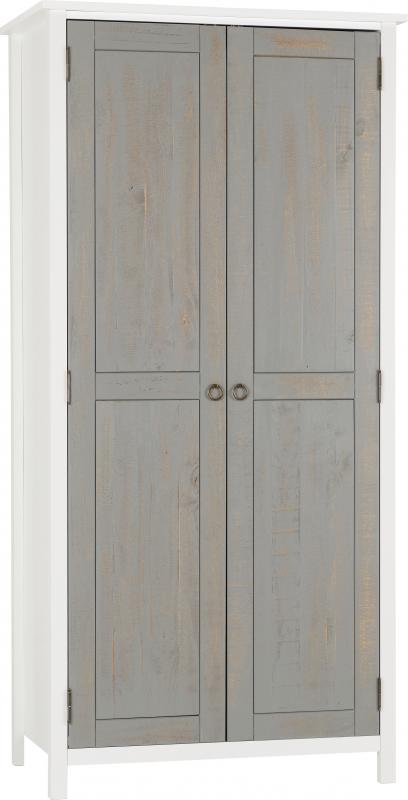 Vermont 2 Door Wardrobe White/Grey