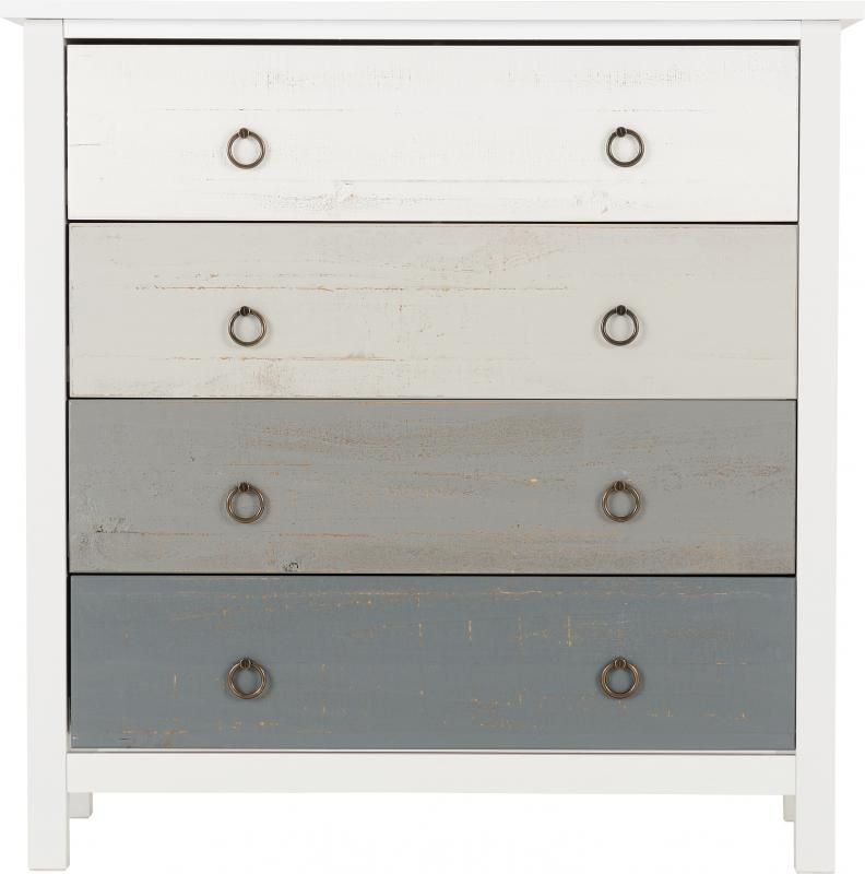 Vermont 4 Drawer Chest - White/Grey