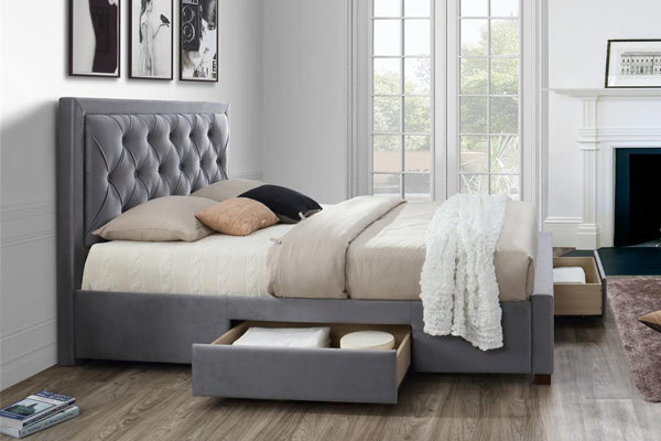Woodbury Fabric Bed