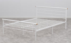 Orion Bed - Silver - White