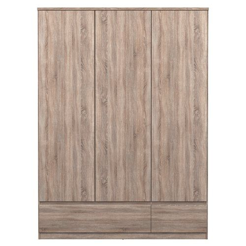 Naia Truffle 3 Door 2 Drawer Wardrobe