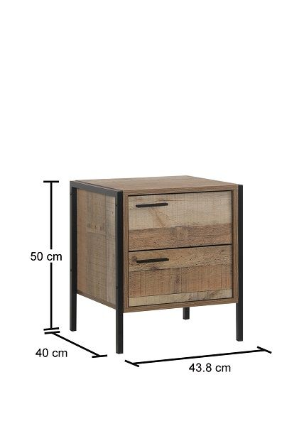 Stretton 2 Drawer Bedside