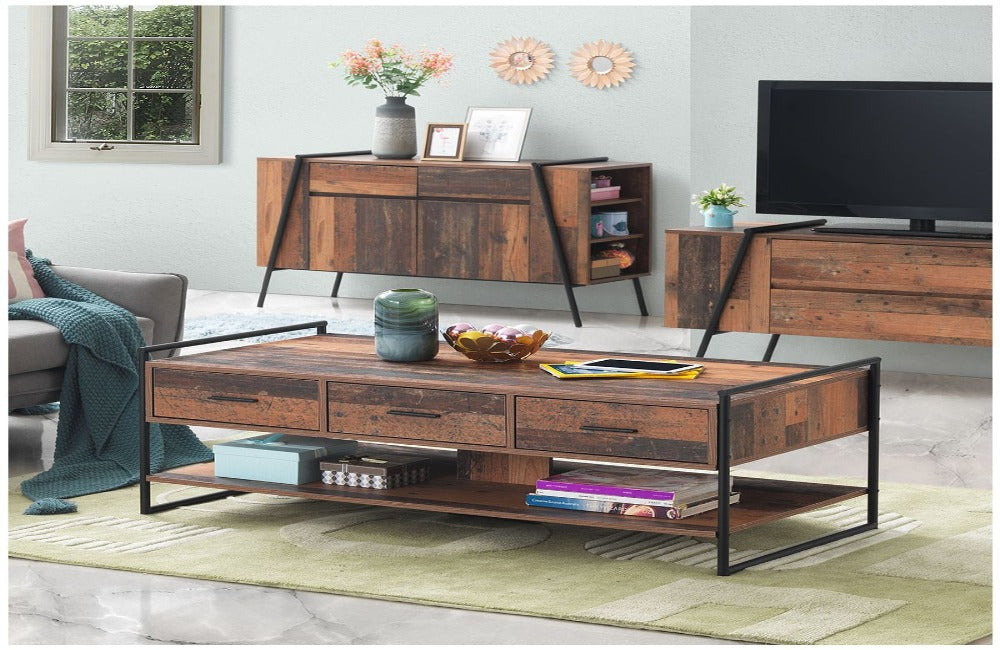 Abbey 3 Drawer Coffee Table