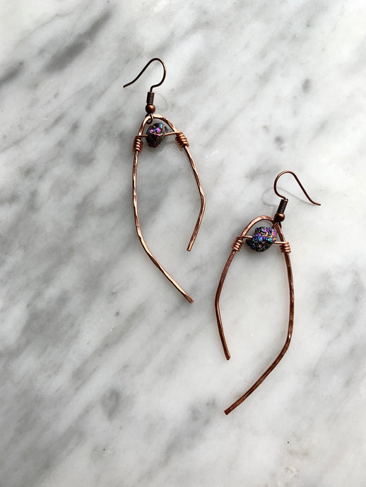 Hammered Crystal Mojo Earrings