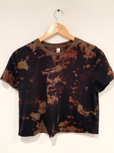 Load image into Gallery viewer, Reverse Dyed Flowy Crop Tee