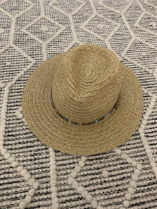 Metallic Trim Panama Hat