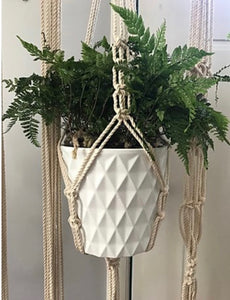 Large Macrame Plant Holder