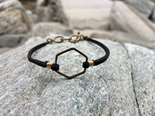 Load image into Gallery viewer, Hexagon Suede Bracelet