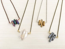 Load image into Gallery viewer, Long Triple Crystal Necklace