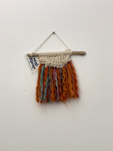 Handmade Macrame and Wood Wall Hangings