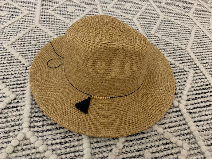 Natural Panama Hat with Tassel