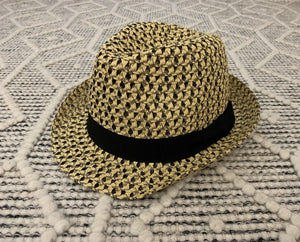 Natural and Black Color Blend Fedora