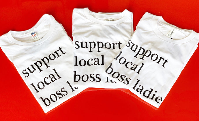 support local boss ladies tee