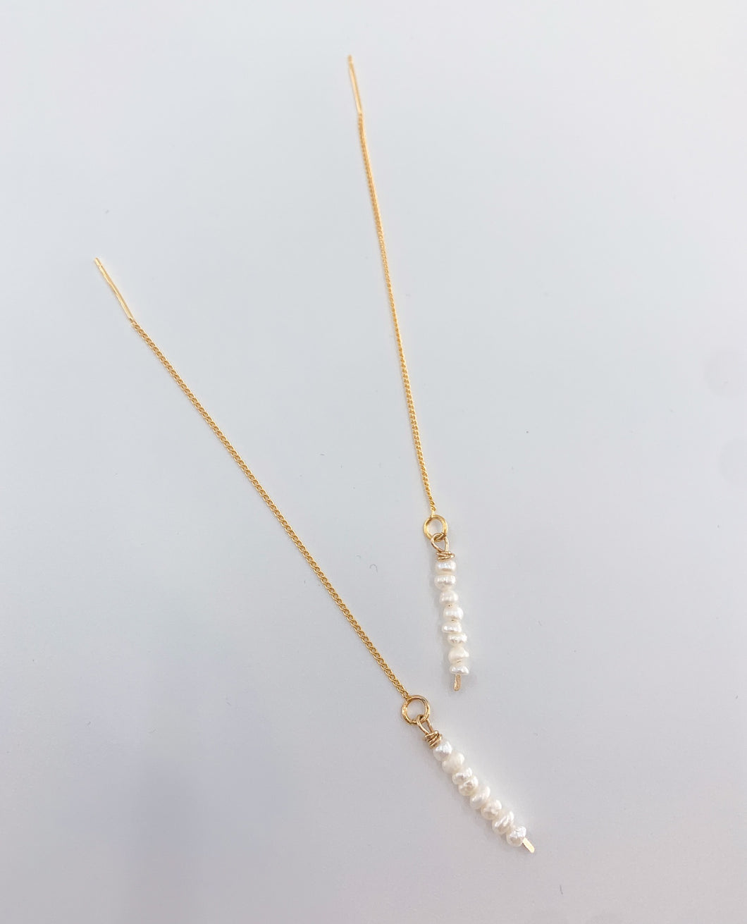 Pearl Bar Threader Earring