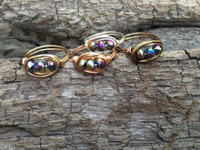Load image into Gallery viewer, Triple Stone Wire Wrapped Rings