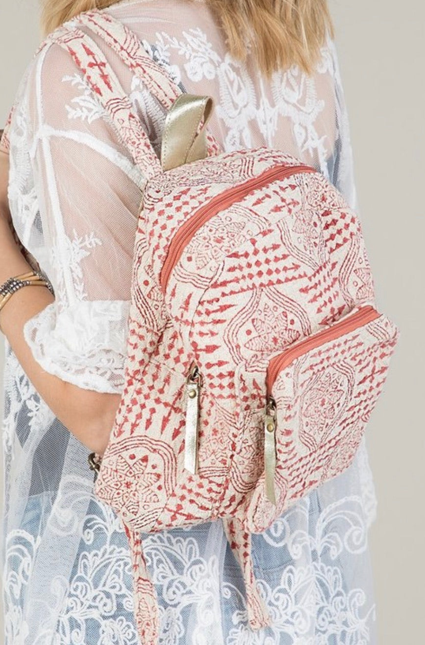 Moroccan Flower Backpack