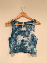 Load image into Gallery viewer, Shibori Indigo Dyed Crop Tank