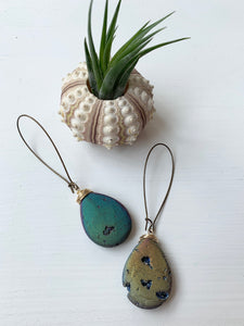 Large Agate Druzy Drop Earring