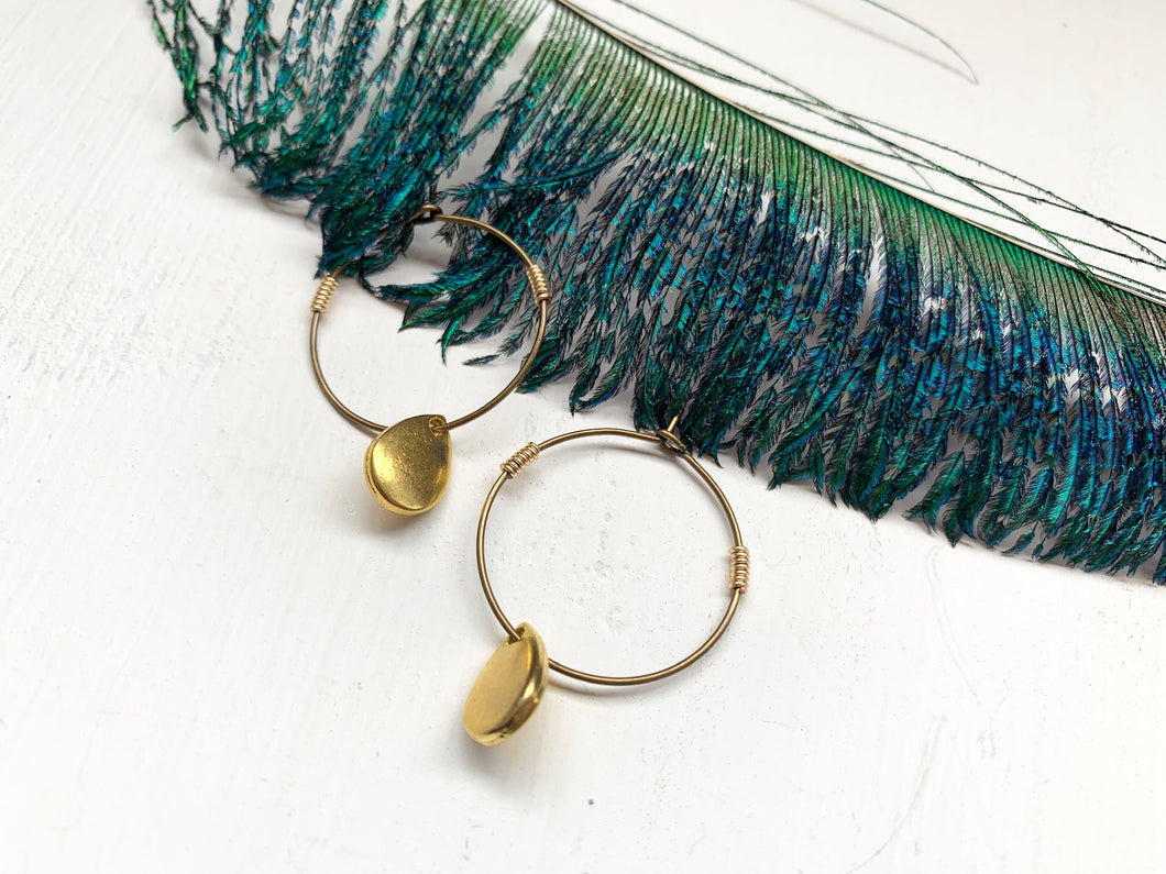 Boho Metal Teardrop Hoop Earring