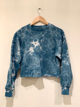 Load image into Gallery viewer, Shibori Indigo Dyed Sweatshirt
