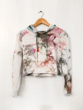 Load image into Gallery viewer, Ice Dyed Multi-Colored Crop Hoodie