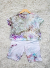 Load image into Gallery viewer, Ice Dyed Multi-Colored Crop Tee