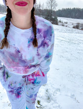 Load image into Gallery viewer, Ice Dyed Multi-Colored Slightly Cropped Sweatshirt