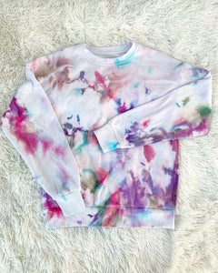 Ice Dyed Multi-Colored Regular Crew Neck Sweatshirt
