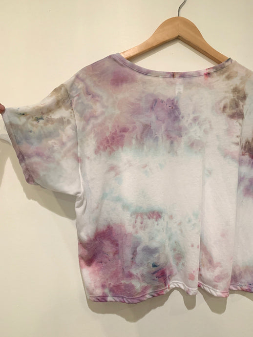 Ice Dyed Multicolored Flowy Boxy Tee