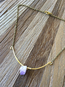 Hammered Nugget Necklace