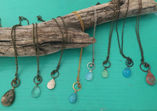 Load image into Gallery viewer, Zen Stone Drop Necklace