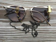 Load image into Gallery viewer, Crystal and Metal Eye Glass Chain