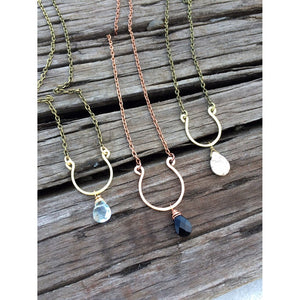 Short Hammered Horseshoe Necklace