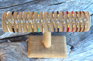 Crystal and Suede Bracelet
