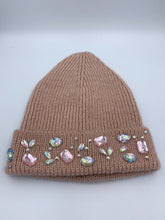 Load image into Gallery viewer, Pink Acrylic Crystal Winter Hat