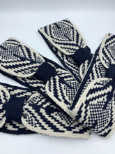 Load image into Gallery viewer, Navy and White Geometric Winter Headband