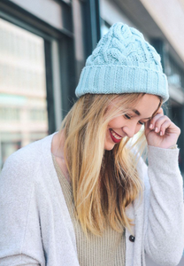 Thick Braid Knit Beanie