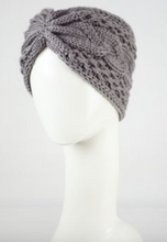 Load image into Gallery viewer, Cable Knit Bow Headband
