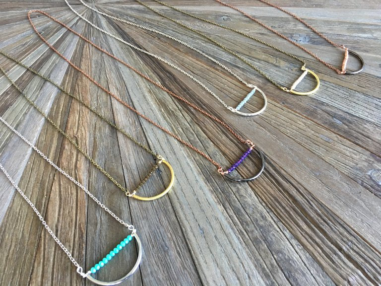 Boho Crescent Necklace
